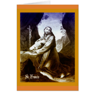 Catholic Card St. Francis of Assisi quote