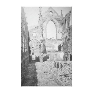 Catholic Cathedral Ruins During Civil War, 1865 Stretched Canvas Prints