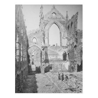 Catholic Cathedral Ruins During Civil War, 1865 Postcard
