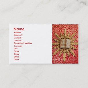 Catholic Business Cards Profile Cards Zazzle Ca