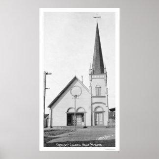 Catholic Church Nome Alaska 1921 Poster