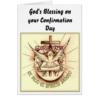 Catholic Confirmation Card