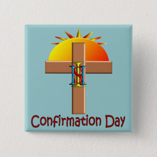 Catholic Confirmation Day for Kids 2 Inch Square Button