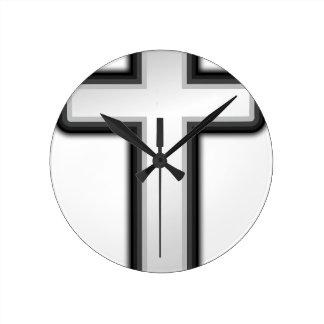 Catholic Cross Round Clock