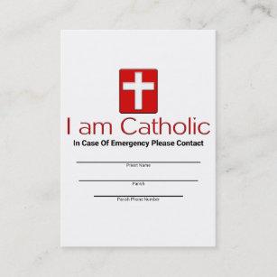 Catholic Emergency Contact Card