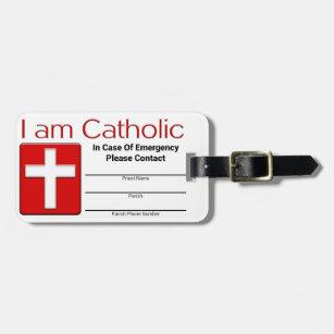 Catholic Emergency Contact Card Luggage Tag