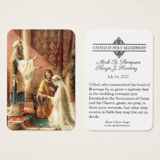 Catholic Engagement Wedding Favours Holy Cards
