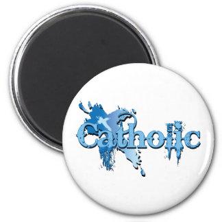 Catholic Gothic Cross 2 Inch Round Magnet