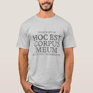Catholic Hoc Est Corpus Meum Shirt Gift, eucharist