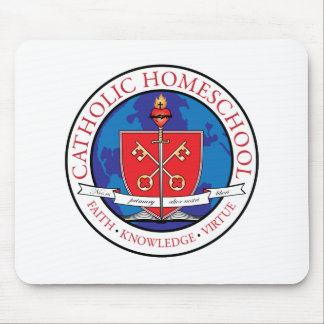 Catholic Homeschool Crest Mouse Pad