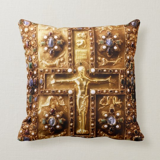 Catholic Landau Gospels Throw Pillow