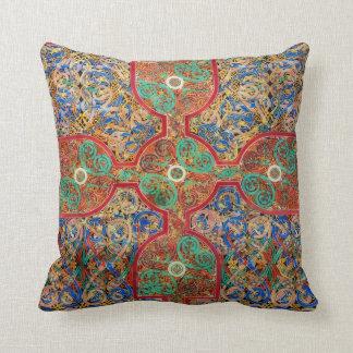 Catholic Lindisfarne Gospels Illumination Throw Pillow