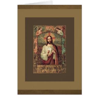 Catholic Mass Jesus Eucharist Offering Card