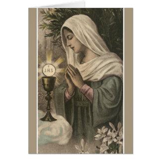 Catholic Mass Offering Card