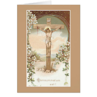 Catholic Mass Offering Card with Crucifix