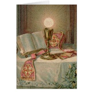 Catholic Mass Offering Memorial Eucharist Card