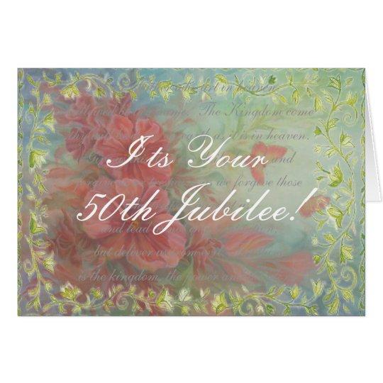 Catholic Nun 50th Jubilee Card