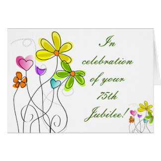 Catholic Nun Diamond 75th Jubilee Floral Card