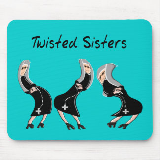 "Catholic Nun Gifts ""Twisted Sisters"" Design Mouse Pad"