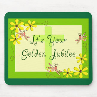 Catholic Nun Golden Jubilee Cards Mouse Pad