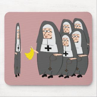 "Catholic Nun Humor ""Fat Sisters"" Mouse Pad"