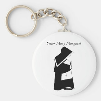 Catholic Nun in Habit Custom Sister Name Keychain
