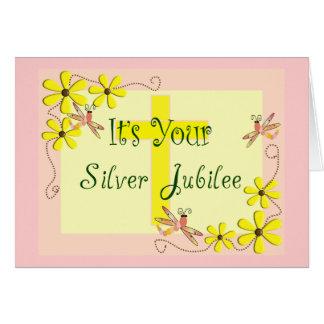 Catholic Nun Silver Jubilee Cards, Mugs, Tote Bags Card