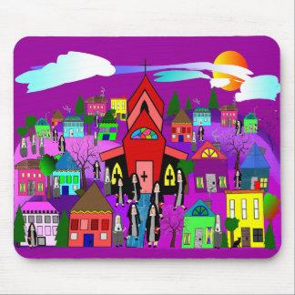 "Catholic Nuns Art ""Heading to Church"" Mouse Pad"