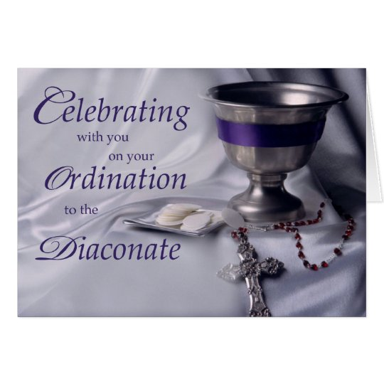 Catholic Ordination to Diaconate Chalice Rosary Card