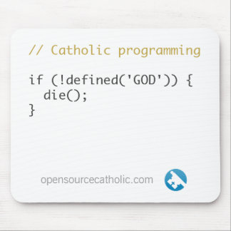 Catholic Programmer's Mousepad