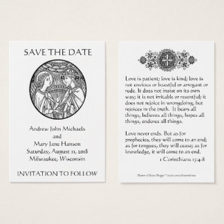 Catholic Save the Date Wedding Cards
