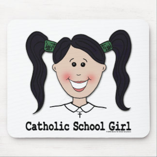 Catholic School Girl ~ Jenn Mouse Pad