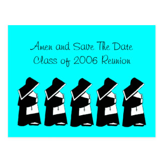 Catholic School Reunion Save The Date Nun Custom Postcard