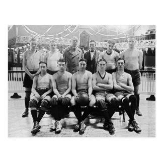 Catholic University Basketball Team 1923 Postcard