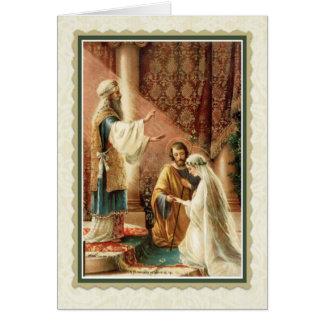 Catholic Wedding Card w/scripture verse