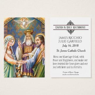 Catholic Wedding Favour Holy Card Bride Groom
