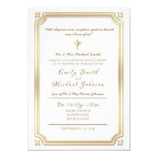 Catholic Wedding Invitation - Formal - With Verse