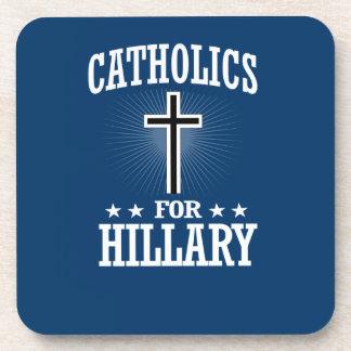 CATHOLICS FOR HILLARY BEVERAGE COASTERS
