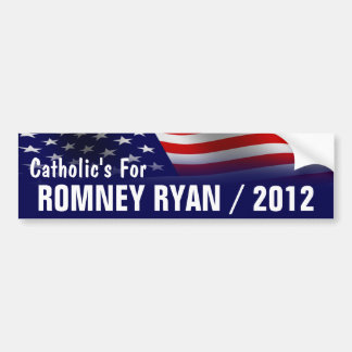 Catholic's For Romney Ryan 2012 Bumper Sticker