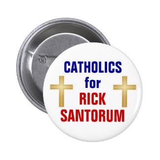 Catholics for Santorum 2 Inch Round Button