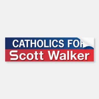 Catholics for Scott Walker Bumper Sticker