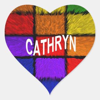 CATHRYN HEART STICKER