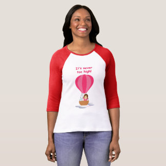"""Cathy and the Cat flies in globe"" (with text) T-Shirt"