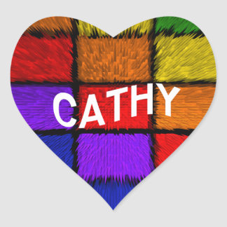 CATHY HEART STICKER
