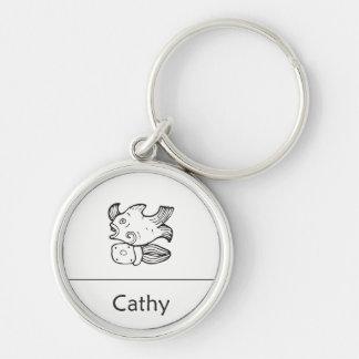 Cathy in Mayan Keychain