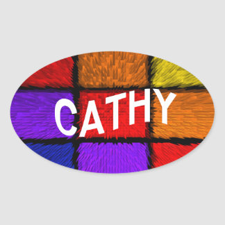 CATHY OVAL STICKER