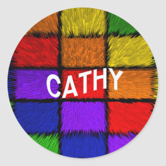 CATHY ROUND STICKER