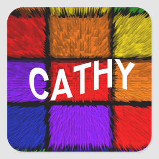 CATHY SQUARE STICKER