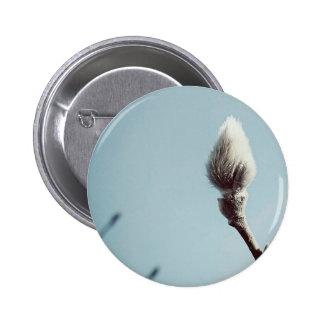 Catkin winter Willow Tree 2 Inch Round Button