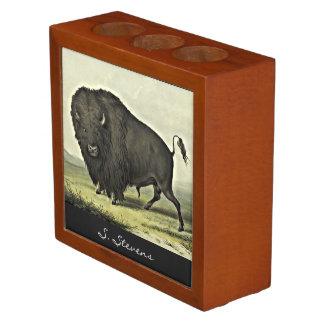 catlin buffalo bull grazing Pencil/Pen holder